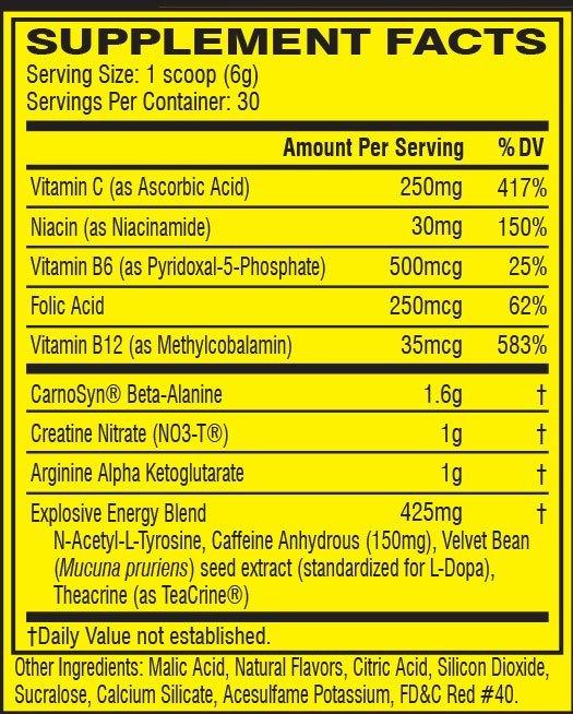 How much caffeine in C4 pre-workout