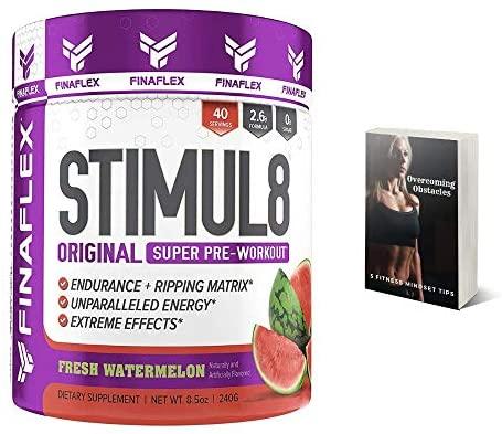 Finaflex Stimul8 Pre-Workout Powder, Watermelon, 8.5 ...