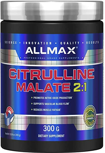 Amazon.com: ALLMAX Nutrition Citrulline Malate, Unflavored, 150 ...
