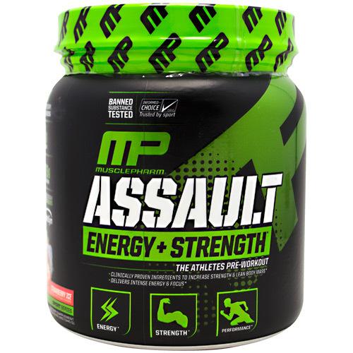 MusclePharm Assault Energy + Strength Pre-Workout, Green Apple ...