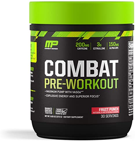 Amazon.com: MusclePharm Combat Pre-Workout, 200 mg of Caffeine ...