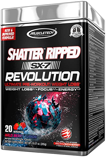 Amazon.com: MuscleTech Shatter Ripped SX-7 Revolution - Wild Berry ...