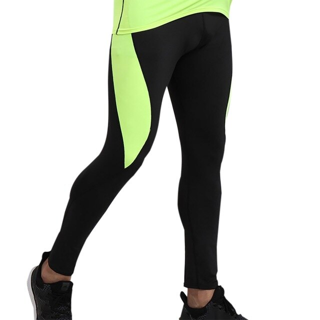 Men Compression Running Tight Leggings Quick dry Trousers Workout ...