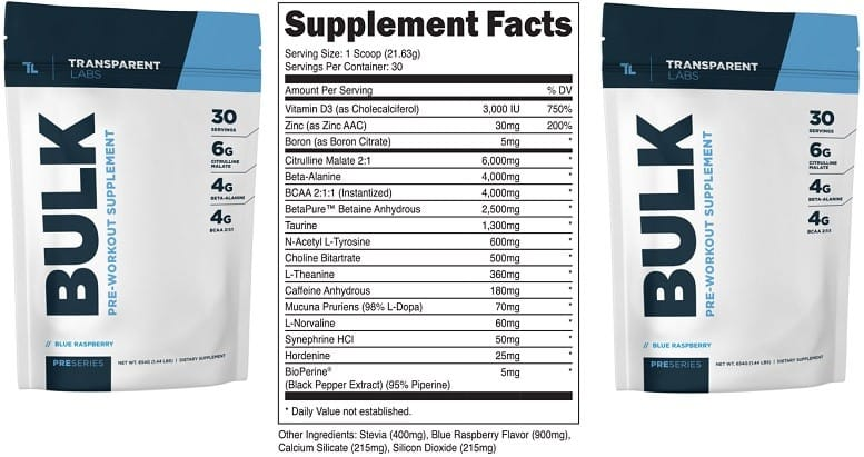 Transparent Labs PreSeries BULK Review - Superior Ingredients?