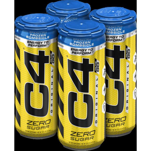 C4 Original Carbonated, Pre Workout Drink, Frozen Bombsicle, Four ...