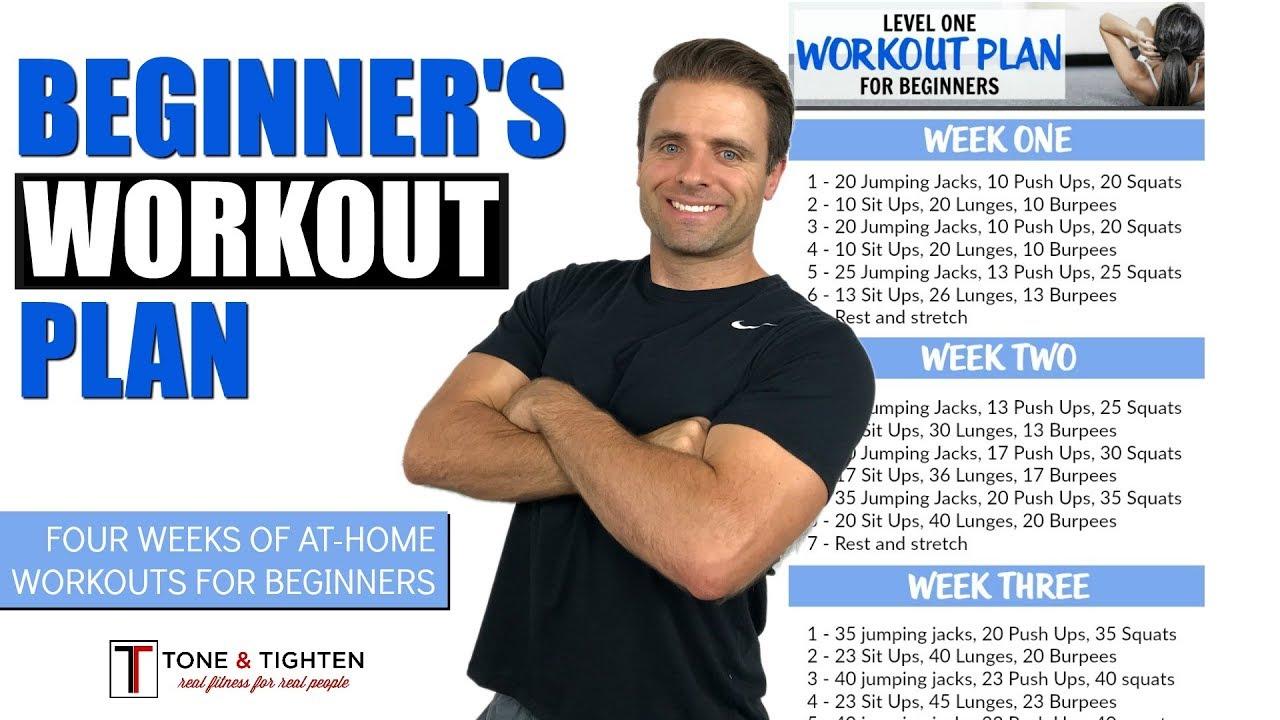 FREE 4 Week Beginner's Workout Plan