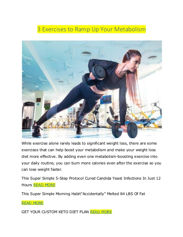 3 Exercises to Ramp Up Your Metabolism