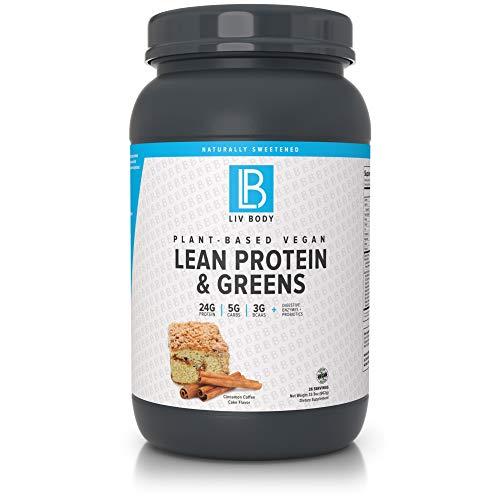 LIV Body   Plant-Based Lean Vegan Protein (Cinnamon Coffee Cake)- Buy Online in Papua New Guinea at papua.desertcart.com. ProductId : 119764940.