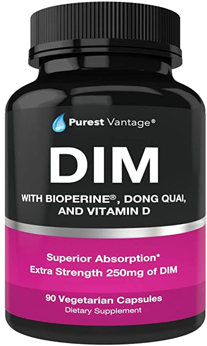 Amazon.com: Pure DIM Supplement 250mg Diindolylmethane Plus BioPerine and  Dong Quai - Hormone Balance for Women and Men, Hot Flashes Menopause  Relief, PCOS, Acne - Estrogen Blocker and Natural Aromatase Inhibitor:  Health