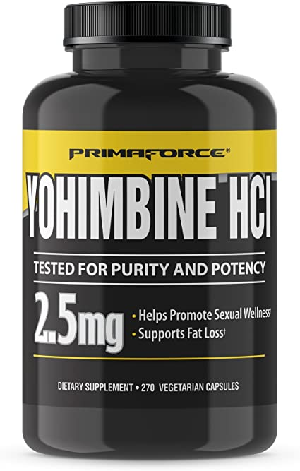 Amazon.com: PrimaForce Yohimbine HCl, 2.5mg Capsules - Weight Loss Supplement - Supports Fat Loss, Boosts Metabolism, 270 Count (Pack of 1): Health & Personal Care