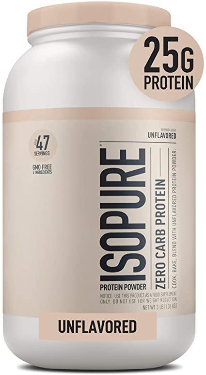 """Isopure Zero Carb Unflavored 25g Protein Powder""的图片搜索结果"