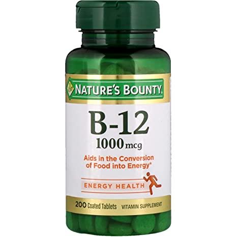 """Nature's Bounty Vitamin B12 Coated Tablets""的图片搜索结果"