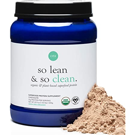 Amazon.com: Ora Organic Vegan Protein Powder - 22g Plant Based Protein Powder for Women and Men   Keto Friendly, Gluten Free, Paleo, Dairy-Free, Gluten-Free, Soy-Free - Chocolate Flavor, 20 Servings: Health &