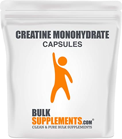 Amazon.com: BulkSupplements.com Creatine Monohydrate (Micronized) (100 Gelatin Capsules): Health & Personal Care