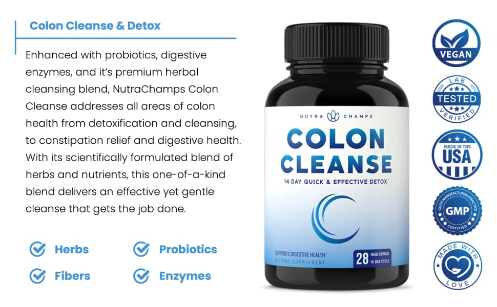 """""""NutraChamps 2 in 1 Colon Cleanse & Detox""""的图片搜索结果"""