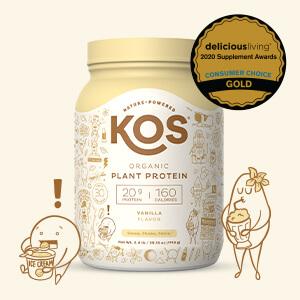 Amazon.com: KOS Organic Plant Based Protein Powder, Vanilla - Delicious Vegan Protein Powder - Keto Friendly, Gluten Free, Dairy Free and Soy Free - 2.4 Pounds, 30 Servings: Health & Personal Care