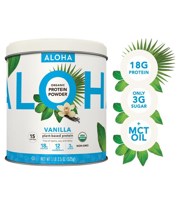ALOHA Plant Based Protein Powder, Vanilla, 18g Protein, 1.2lb, 18.5oz - Walmart.com - Walmart.com