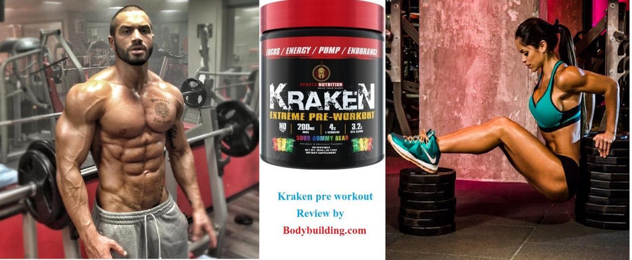 kraken pre workout review by bodybuilding.com
