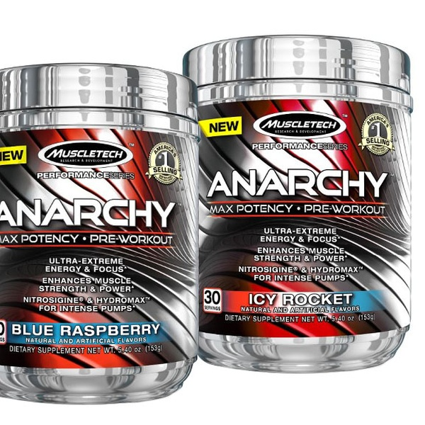 Buy 1 Get 1 Free: MuscleTech Anarchy Pre-Workout Supplement | Groupon
