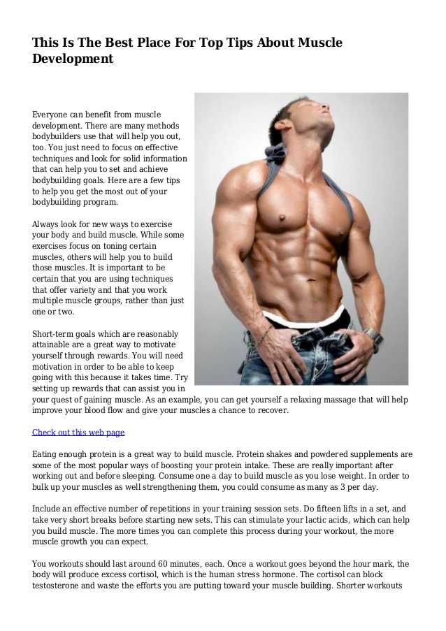 This Is The Best Place For Top Tips About Muscle Development