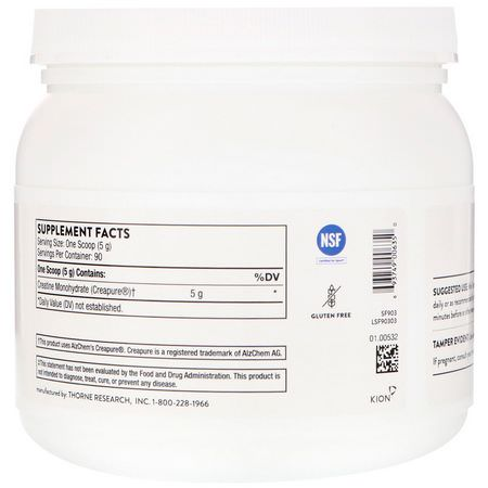Thorne Research Creatine Monohydrate