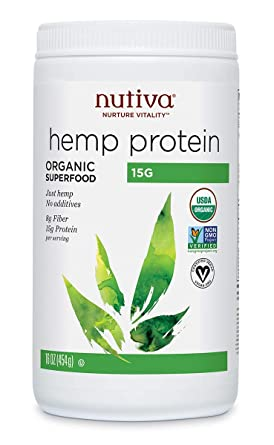 Nutiva Organic, Cold-Processed Hemp Protein from non-GMO, Sustainably Farmed Canadian Hempseed, 15 G, 16 Ounces: Amazon.com: Grocery & Gourmet Food