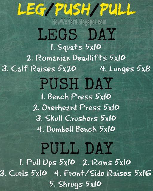 14 Push pull workout ideas | workout, fitness body, push pull workout