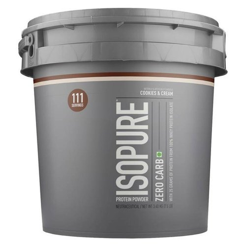 Whey Protein 7. 5 Lbs Isopure Zero Carb Protein Powder, Packaging Type: Can, Rs 8500 /piece | ID: 20955484633