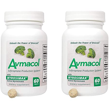 Amazon.com: AVMACOL® (120) 2 Bottle Value Sulforaphane Supplement with Myrosinase: Health & Personal Care