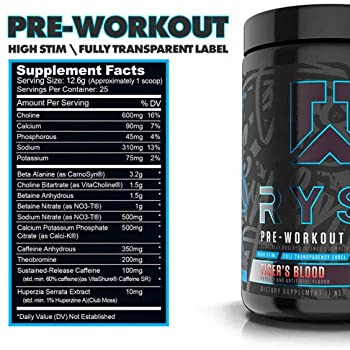 Ryse PRE Workout Project: Blackout | Ryse Up Supplements | Fuel Your Greatness | Pump, Energy, Strength, Endurance, Focus | 25 Servings (Tiger's Blood) : Amazon.sg: Health, Household & Personal Care