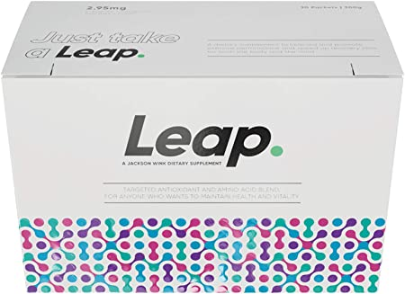 Jackson Wink Daily Workout Supplement: Leap Pre and Post Workout Powder for Men and Women - Daily Multivitamin Energy Supplements with Carnipure for Antioxidant and Amino Acid Support - 30 Pack, 300mg: