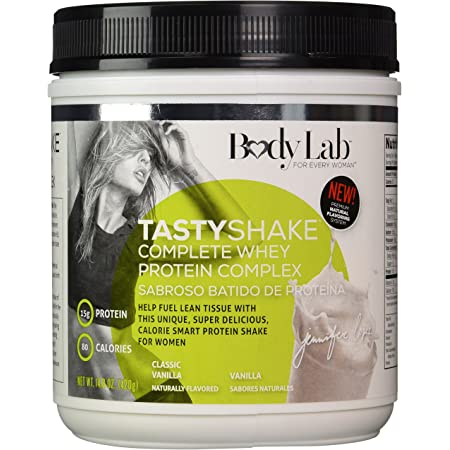 Amazon.com: Body Lab By Jennifer Lopez For Women Tasty Shake Complete Whey Protein Complex, Vanilla 14.8 oz(420 gms): Health & Personal Care